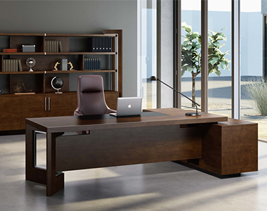 YB-101 油漆实木贴皮老板桌